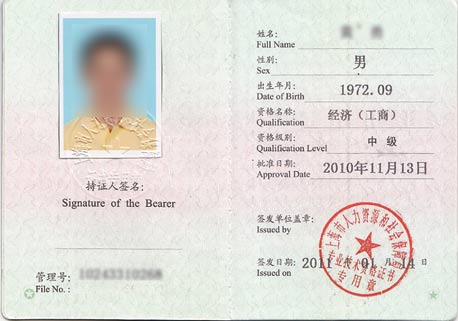 上海经济师职称中级内页